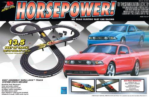 Life-Like Horse Power Mustang Electric Slot Car Race Set