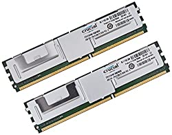Crucial 8GB Kit (4GBx2) DDR2-667MHz (PC2-5300) CL5 Fully Buffered ECC FBDIMM Server Memory CT2KIT51272AF667 / CT2CP51272AF667
