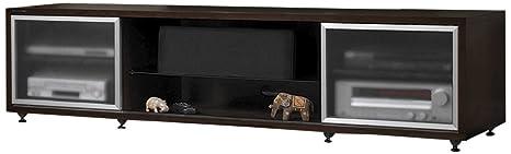PLATEAU SR-V 75 E Wood TV Stand, 75-Inch, Espresso Finish