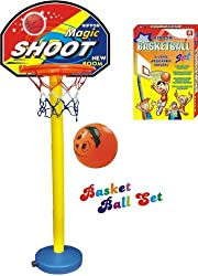 Nippon Basket ball kit Adjustable with Stand for kids play playing hanging board