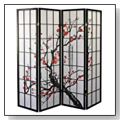 Plum Blossom Room Divider Floor Screen