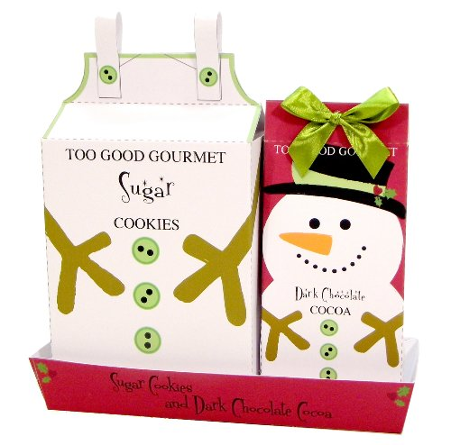 Too Good Gourmet Snowman Cookies and Cocoa Christmas Gift Set