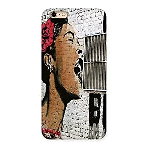 Gorgeous Girl Singing Wall Back Case Cover for iPhone 6 Plus 6S Plus
