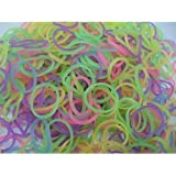 600 Eastiques FLUORESCENTS et s-attaches multicolores en latex Twistz Bandz