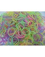600 Eastiques FLUORESCENTS et s-attaches multicolores en latex Twistz Bandz