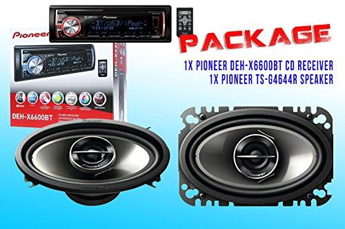 Package ! Pioneer Deh-X6600Bt Cd-Receiver + Pioneer Ts-G4644R Car Speakers