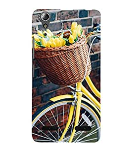 Flowers Basket Cycle 3D Hard Polycarbonate Designer Back Case Cover for Lenovo A6000 :: Lenovo A6000 Plus :: Lenovo A6000+