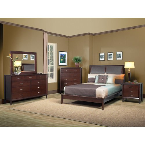 Cypress Leather Sleigh Bedroom Set by Modus Furniture International