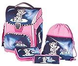 Schneiders ViennaToolbag Plus 4 teiliges Ranzenset Pretty Kira mit LED