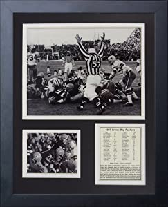 Legends Never Die Green Bay Packers Ice Bowl The Sneak Framed Photo Collage,... by Legends Never Die