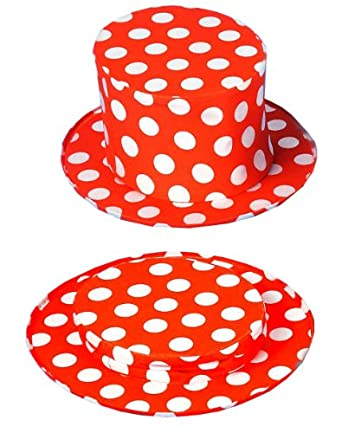 Forum Patriotic Collapsible Top Hat, Red/White, One Size