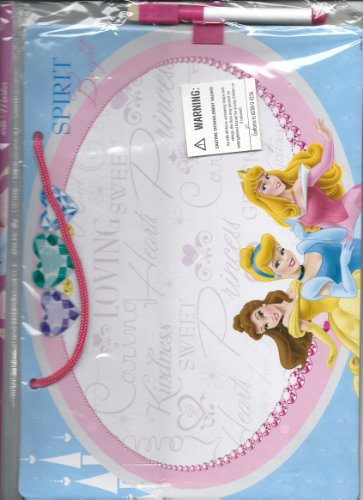 Disney Princesses Belle Cinderella Aurora Sleeping Beauty Princess Hanging Dry Erase Board with Marker - 1