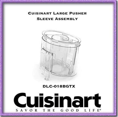 Cuisinart Large Pusher (DLC-8M-018BGTX) sleeve assembly for Custom 11 models DLC-8, DLC-8E, DLC-8F, DLC-8P (Pro), DLC-8S, Deluxe 11 model DLC-8Plus,DFP-11 and EV-11PC7