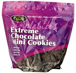 Pamela's Products Simplebites Extreme Chocolate Mini Cookies, 7-Ounce Pouches (Pack of 6)