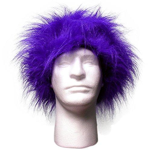 [Sports Novelties Wig, Purple] (Halloween Costumes At Spirit Halloween)