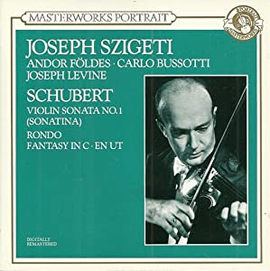 Schubert: Violin Sonata in D / Fantasy for Violin in C