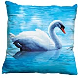 Swan Left 3D Stamped Cross Stitch Cushion
