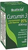 HealthAid Curcumin 3 Vegan Tablets - Pack of 30