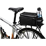 Black Multi-functional Bicycle Rear Seat Trunk Bag Shoulder Handbag Bag Pannier