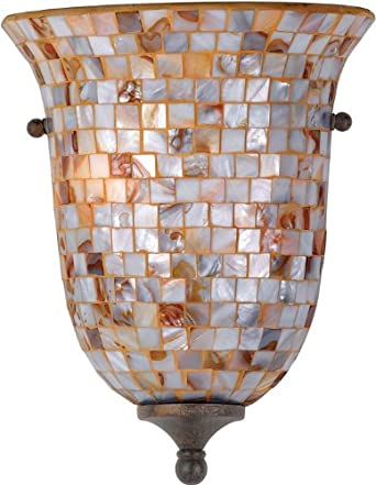 Quoizel MY8801ML Monterey Mosaic 1-Light Pocket Wall Sconce, Malaga