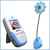 "Daisy Handheld 2.5"" Color Video Baby Monitor and 2.4GHz Wireless Camera - Blue - (Day & Night) (Video & Audio) Infant Nursery Monitor"