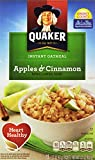 Quaker Instant Oatmeal Apples & Cinnamon Oatmeal, 1.51oz Packets, 10-Count Boxes (Pack of 4)