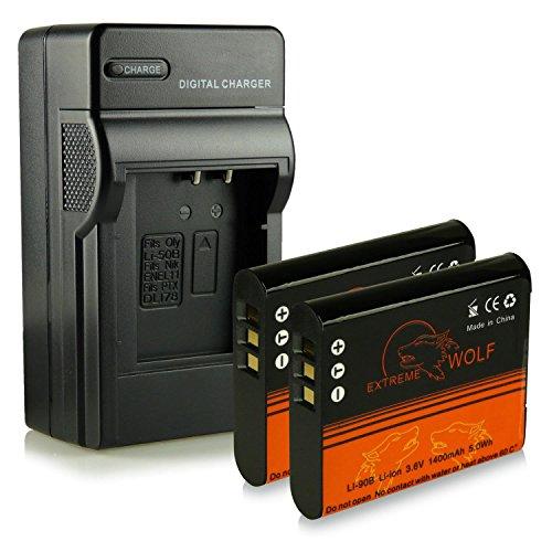 caricatore-2x-extremewolf-batteria-li-90b-per-olympus-stylus-creator-xz-2-stylus-traveller-sh-50-sty