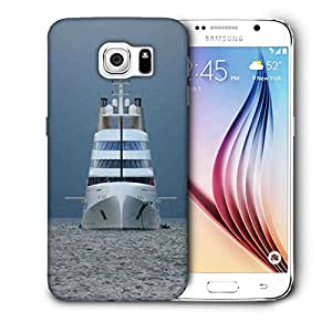 Snoogg White Ship Printed Protective Phone Back Case Cover For Samsung Galaxy S6 / S IIIIII