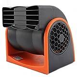 Masaling 24V車載ファン 扇風機 冷風器 2段階風量 調節でき 静音 エア・アウトレット多角度調整でき  ライター付き 強風力 省エネ 車/トラック/Pickup用 夏対応 涼しい夏を楽しめ オレンジ