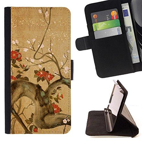 momo-phone-case-flip-funda-de-cuero-case-cover-rama-de-arbol-flores-florecimiento-rojo-marron-apple-