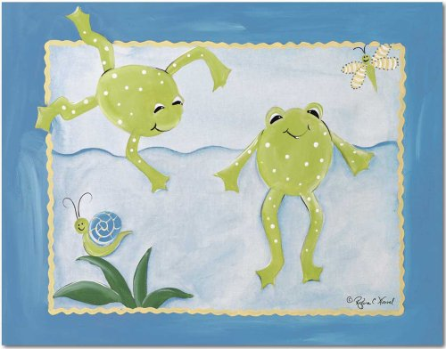 "Doodlefish Gallery-Wrapped 20""x16"" Wall Art, Frog Pond"