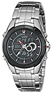 Casio Men's EFA119BK-1AV Ana-Digi Edifice Stainless Steel Watch