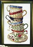 クロスステッチ刺繍キット seto of coffee cups