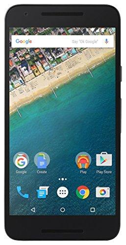 """LG Nexus 5X - Smartphone de 5.2"""" (WiFi, DLNA, procesador Qualcomm Snapdragon 808 de 64 bits y 6 núcleos, memoria interna de 32 GB, memoria RAM 2 GB, Android Marshmallow) color negro"""