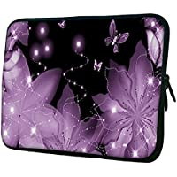 """Snoogg Floral Butterfly 15"""" 15.5"""" 15.6"""" Inch Laptop Notebook Slipcase Sleeve Soft Case Carrying Case For Macbook..."""