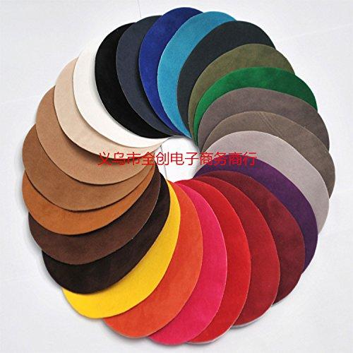 Nuovo ferro-on patch maglione accessori decorativi toppe di pelle di camoscio solidi ovali appliques l'accessorio dell'indumento