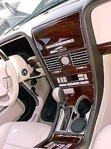 Lincoln Navigator Interior Burl Wood Dash Trim Kit Set 2003 2004 2005 2006 Automotive