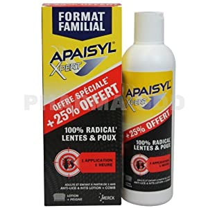 Apaisyl Xpert 100% Radical Lice and Nits 250ml by Apaisyl