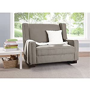 Baby Relax Double Rocking Chair Grey Upholstered Couch For Nursery Living Room
