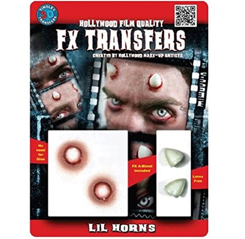 Hollywood Film Quality FX Transfers Lil Horns Costume Accessory 3D Effect (Hollywood Quality Kids Costumes)