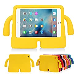 Lioeo iPad Mini Case for Kids Freestanding with Handle Lightweight EVA Foam Case for Apple iPad Mini 4 3 2 1 7.9 inch (Yellow)