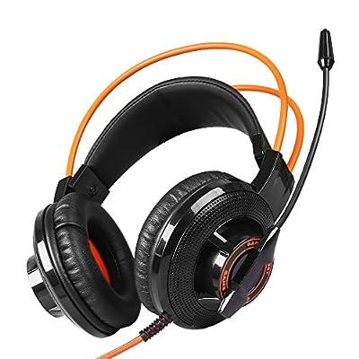 Somic G925 Stereo Gaming Headset with Mic Headband Headphone (Orange)