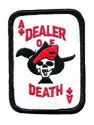 Ace of Spades Dealer of Death Card Embroidered Patch Iron-On Vietnam War Skull Emblem