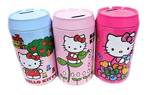 "Hello Kitty 8""H Tin Soda Penny Saving Bank - Toy Money Bank 1pc"