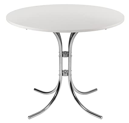 Tipton Cafe Bistro Table In Light Wood Clean Top In White Finish by Carran Office Furniture