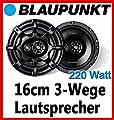 Audi A3 8L Heck - Blaupunkt GTx663 - 16cm 3-Wege Lautsprecher System - Einbauset