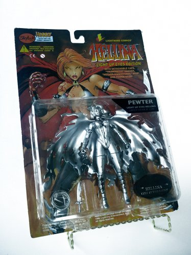 "6"" Lightning Comics' Hellina Action Figure, the Light up Eyes Edition - Pewter Limited Edition - Skybolt Toyz 1998 Series"