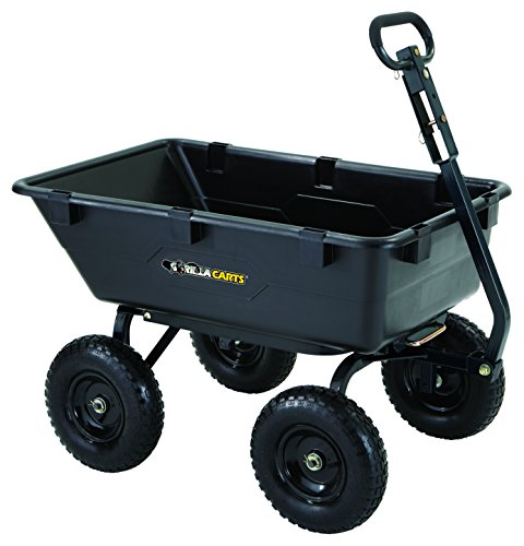 Gorilla Carts GOR6PS Heavy-Duty Poly Yard Dump Cart