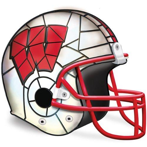 Football Helmet Table Lamp : Wisconsin badgers helmet accent lamp by the bradford