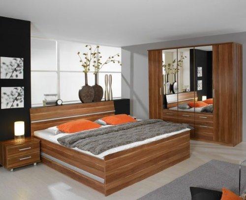 rauch Schlafzimmer kernussfarben mit Schubkästen, 4-teilig Schubkastenset einseitig, BETT180X200,SCHRANK271/212/56 kaufen